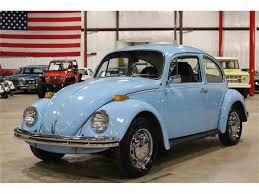 blue volkswagen beetle vintage 1972 volkswagen beetle for sale classiccars com cc 955409