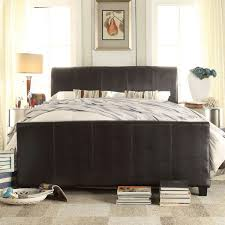King Size Leather Sleigh Bed Tufted Leather Sleigh Bed With Outstanding Tuscany Villa