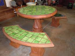 Lime Green Patio Furniture by Round Patio Table Set Lime Green Tile