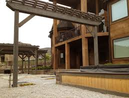 Pergola System by Timber Frame Pergola Against The Wind Under Snow And Seismic