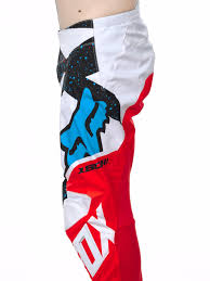 fox motocross trousers fox red white 2017 180 nirv mx pant fox freestylextreme