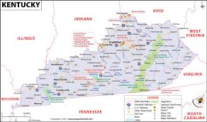 kentucky map kentucky map map of kentucky ky