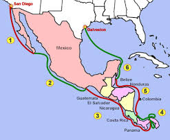 Huatulco Mexico Map by Rhapsody To Central America The Plan