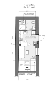 narrow apartment plans interior design