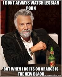 Lesbian Porn Meme - i dont always watch lesbian porn but when i do its on orange is the