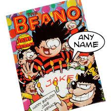 happy birthday book personalised beano happy birthday book the gift experience
