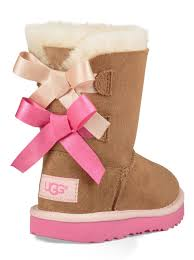 ugg bailey button toddler sale ugg toddler bailey bow ii boot in chestnut pink azalea