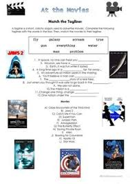 this worksheet can be used with a topic on films movies the