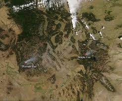 Map Of Montana And Wyoming by Fires In Idaho And Wyoming Nasa
