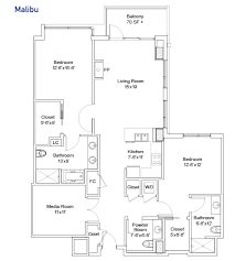 Media Room Plans - senior living los angeles fountainview at gonda floor plans