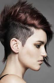 what are the current hairstyles in germany short half shaved and side swept pixie hairstyle had that