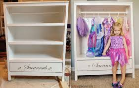 diy dress up center bookshelf plans