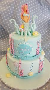 childrens cakes 2 tier mermaid theme cake ravens bakery of essex ltd
