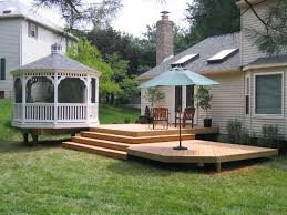 Deck Patio Design Pictures Deck Leading To Stone Patio Small Pool And Patio Decorating Ideas