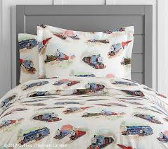 Thomas The Tank Duvet Cover Organic Thomas U0026 Friends Duvet Cover Pottery Barn Kids