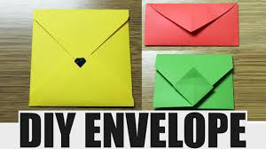 how to make envelopes how to make an envelope diy paper envelope youtube