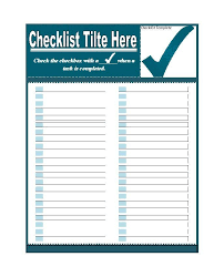 checklist template 22 free word excel pdf documents download