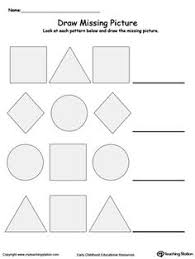 draw the missing picture to complete the pattern printable