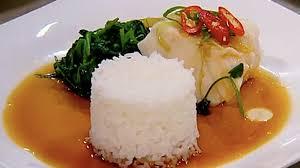 cuisiner avec du gingembre abadèche à la vapeur avec gingembre soya feuilles de pois mange tout