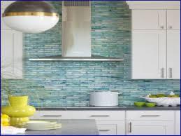 Glass Backsplash Tile For Kitchen White Kitchen With Sea Glass Backsplash Kitchen Backsplash