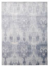 Bamboo Silk Area Rugs Ikat Bamboo Blue By The Rug Company The Rug Company Lov305
