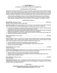 Customer Service Job Resume by Download Professional Resume Service Haadyaooverbayresort Com