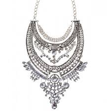 silver necklace cheap images Cheap chunky silver gold statement necklace uk cherry diva jpg