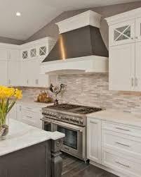 Kitchen Stone Backsplash by Stone Kitchen Backsplash With White Cabinets Design Inspiration