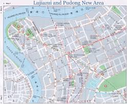 Shanghai Map Map Of Lujiazui And Pudong New Area