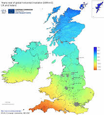 Leeds England Map by Uk And Ireland Annual Insolation Map Contemporary Energy Ltd