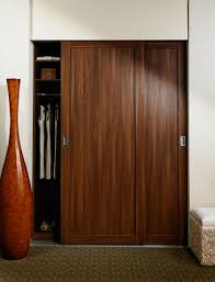 Wood Sliding Closet Door Wood Sliding Closet Doors With Beautiful Style Comqt