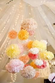 Pom Pom Decorations 30 Hanging Paper Pompoms Decor Ideas For Your Wedding Weddingomania