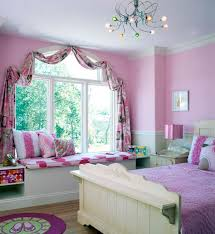 teenage bedroom colors with charming pink and white wainscoting