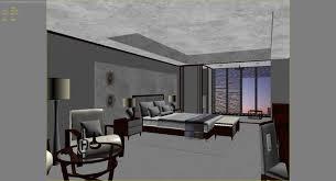 scene modern hotel room 3d max