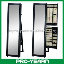 Jewelry Cabinet Mirror Full Length Wooden Furniture Chinese Dressing Mirror With Jewelry