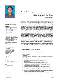 Mechanical Design Engineer Resume Objective Resume Nazrul Mazdi Mokhtar Piping Designer