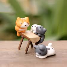 6pcs cat decorations miniatures miniature items