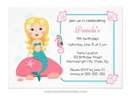 mermaid birthday party invitation archives more than invites