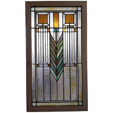 stained glass window antique american prairie stained and leaded glass window