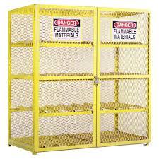 flammable gas storage cabinets durham egcc16 50 horizontal 16 cylinder gas lpg steel storage