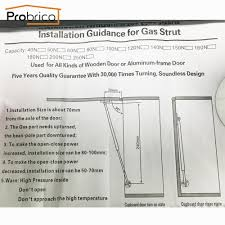 How To Install Kitchen Cabinet Hinges Aliexpress Com Buy Probrico Force Gas Spring 80n Gs10sy80