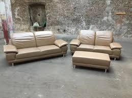 sofa garnitur 3 teilig echtleder garnitur vivre nougat 3 teilig in nordrhein