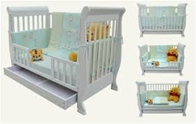Sleigh Cot Bed White 3 In 1 Wooden White Baby Sleigh Cot Bed Mattress Auction