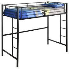 metal twin size loft bed black 68
