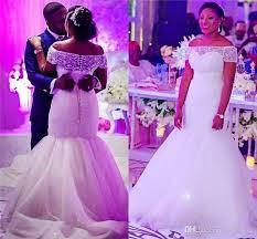wedding dress outlet online mermaid wedding dresses the shoulder beaded collar