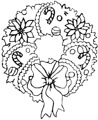 free christmas coloring page christmas wreath coloring pages getcoloringpages com