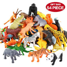 amazon com animals figure 54 piece mini jungle animals toys set