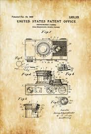 Vintage Camera Decor Photographic Camera Patent Patent Print Wall Decor Photography