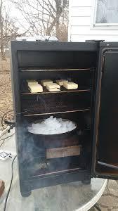 my cold smoker set up cheddar cheese smoking