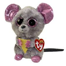 ty beanie boos squeaker mouse glitter eyes regular size